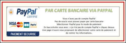 Paiement carte bancaire via paypal